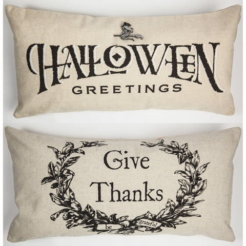 Evelyn Hope Halloween-Thanksgiving pillow