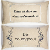Evelyn Hope: Be Fierce linen pillow.
