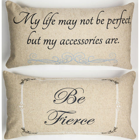 Evelyn Hope Fierce Linen Pillow