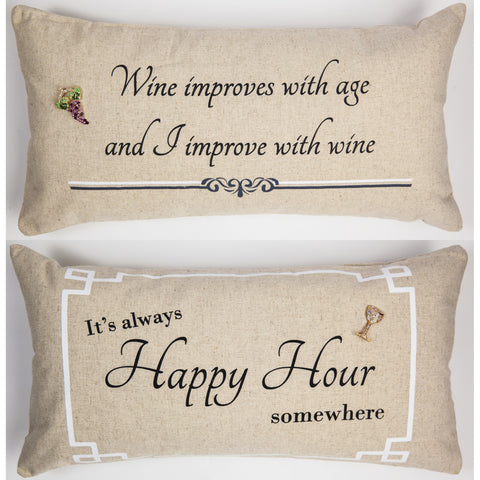 Evelyn Hope Wine linen pillow