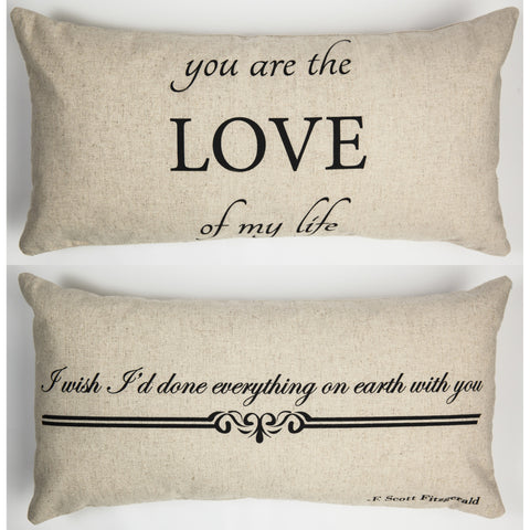 Evelyn Hope Love Linen Pillow