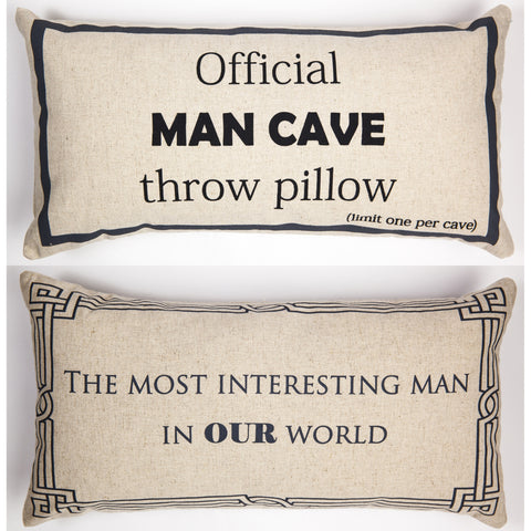 Evelyn Hope Cave Linen Pillow