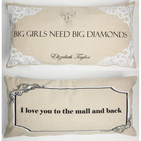 Evelyn Hope Diamonds Linen Pillow