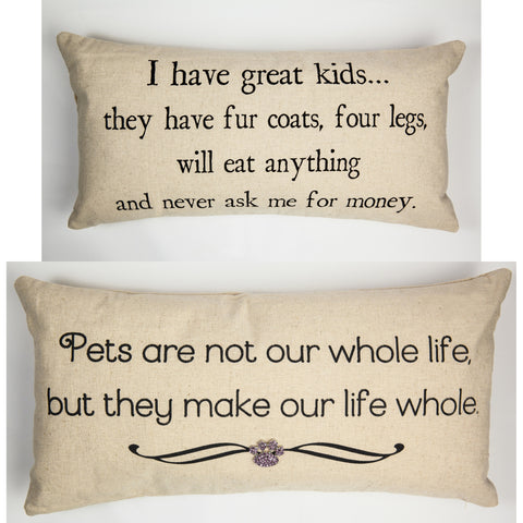 Evelyn Hope Pets Linen Pillow