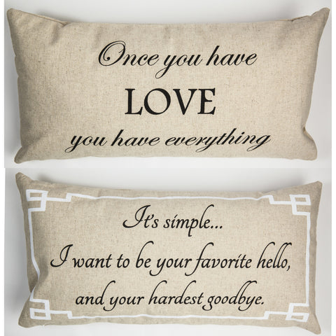 Evelyn Hope Everything Linen Pillow