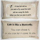 Evelyn Hope Butterfly Linen Pillow