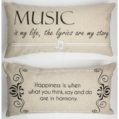 Evelyn Hope Music Linen Pillow