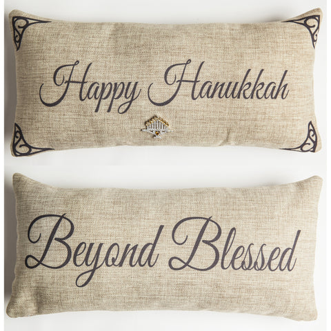 Evelyn Hope HanukkahTweed Pillow