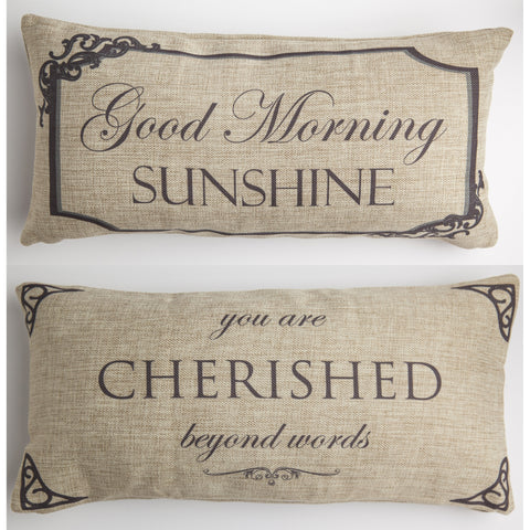 Evelyn Hope Good Morning Tweed Pillow