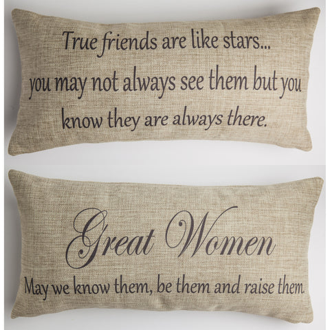 Evelyn Hope True Friends Tweed Pillow