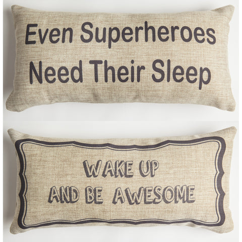 Evelyn Hope SuperherosTweed Pillow