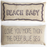 Evelyn Hope Beach Baby Tweed Pillow