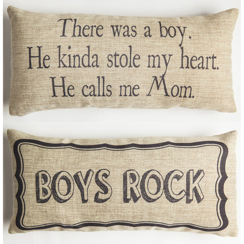 Evelyn Hope Boy Tweed Pillow
