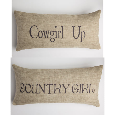Evelyn Hope Cowgirl Tweed Pillow