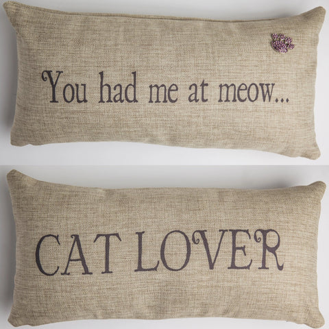 Evelyn Hope Meow Tweed Pillow