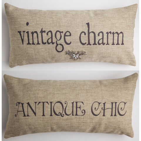 Evelyn Hope Charm Tweed Pillow