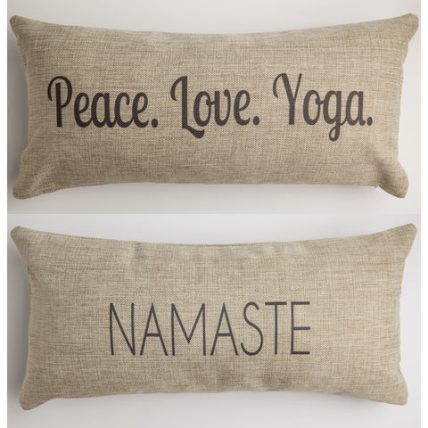 Evelyn Hope Yoga Tweed Pillow