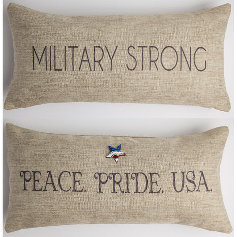 Evelyn Hope Military Pillow