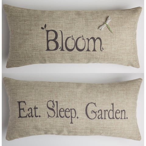 Evelyn Hope Bloom Tweed Pillow