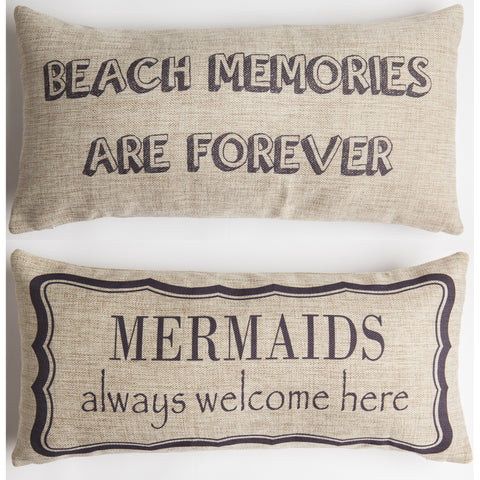 Evelyn Hope Beach Tweed Pillow