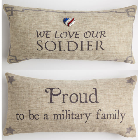 Evelyn Hope Soldier Tweed Pillow