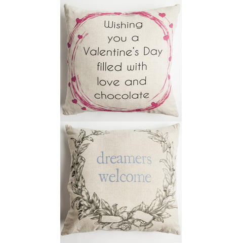 Evelyn Hope Valentine Wish Outdoor Pillow