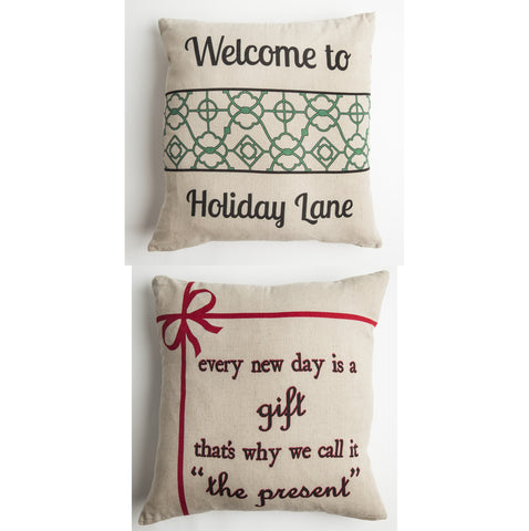Evelyn Hope Holiday Lane Outdoor Pillow