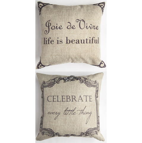 Evelyn Hope Celebrate Linen Pillow