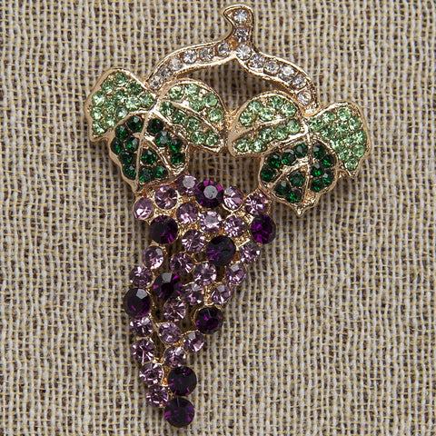 Evelyn Hope Grape Pin