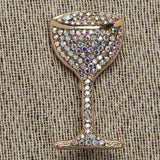 Evelyn Hope Wine Glass Pin
