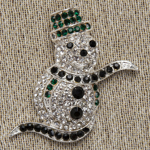 Evelyn Hope Snowman Pin