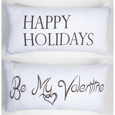 Evelyn Hope Valentine Outdoor Pillow