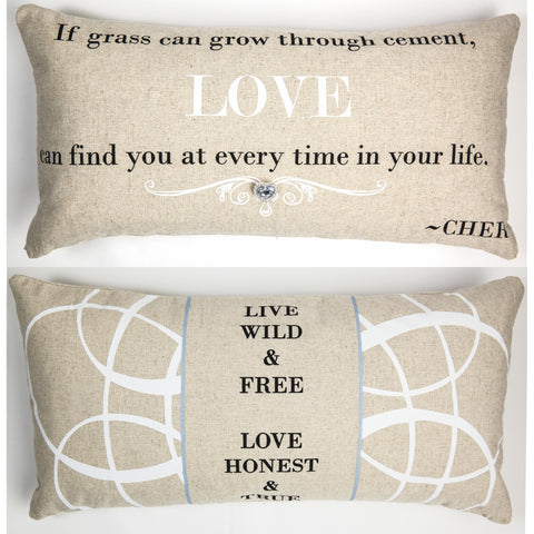 Evelyn Hope Cher Linen Pillow