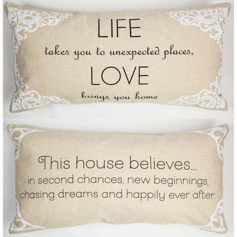 Evelyn Hope Places Linen Pillow