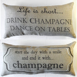 Sparkle linen party pillow