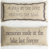 Evelyn Hope Lake Tweed Pillow