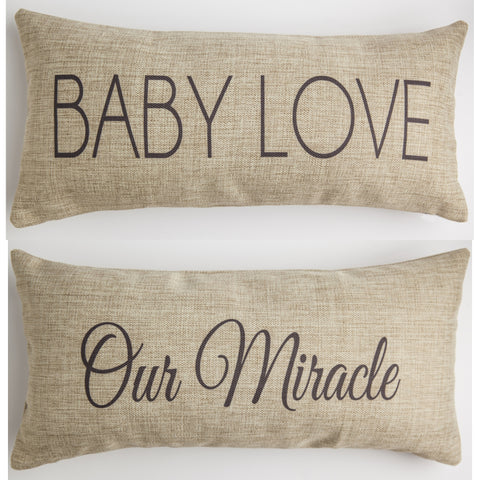 Evelyn Hope Collection Baby Love Pillow