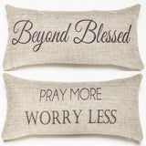 Evelyn Hope Collection Blessed Pillow
