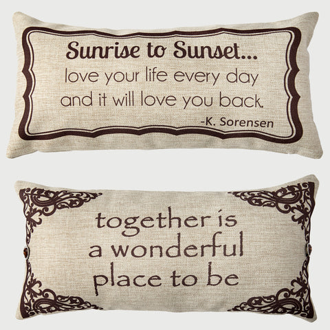 Evely Hope Sunset Pillow