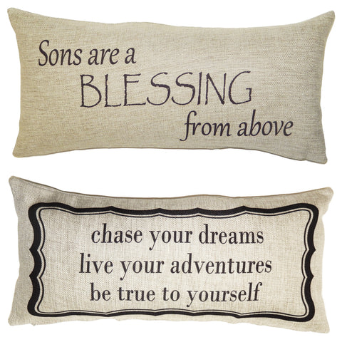 Evelyn Hope Sons Pillow