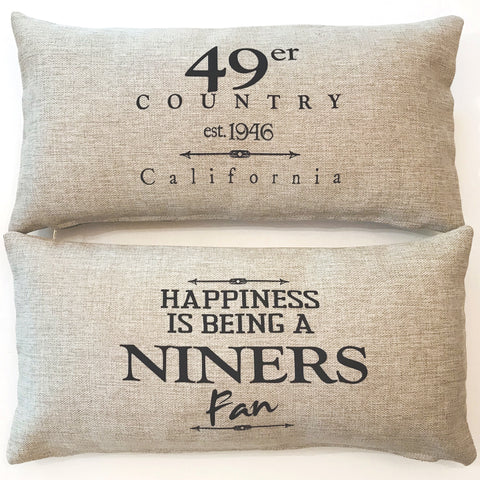 49er-Niners Fan Indoor-Outdoor Doublesided Pillow