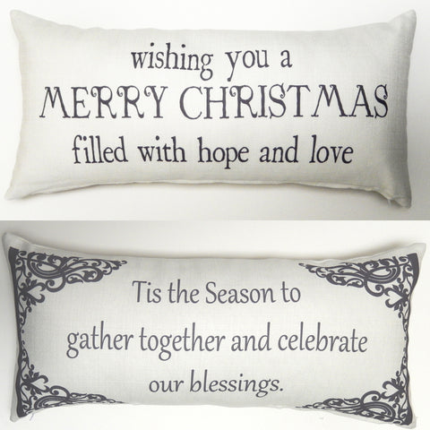 Evelyn Hope Christmas Pillow