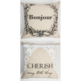 Bonjour Cherish sparkle linen pillow...on sale for a limited time