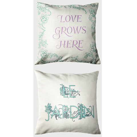 Evelyn Hope Grows3 Pillow