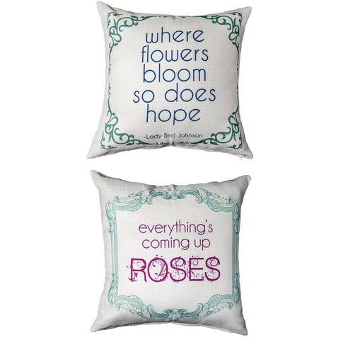 Evelyn Hope Flowers Pillow