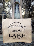 Welcome to the Lake Tote (2 sided)