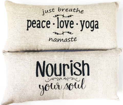 Peace Love Yoga Sparkle Linen