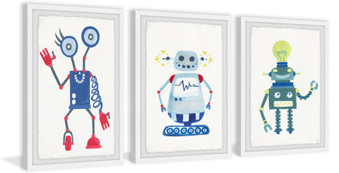 Cool Robots Triptych