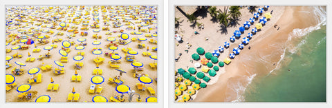 Beach Umbrellas Diptych