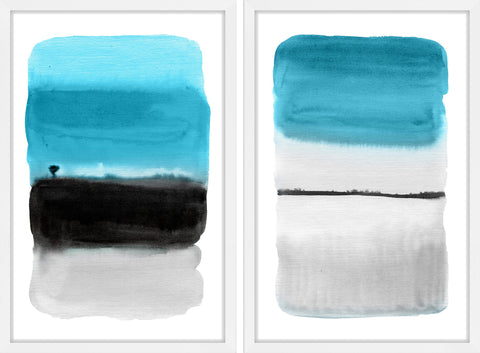 Black and Blue Diptych